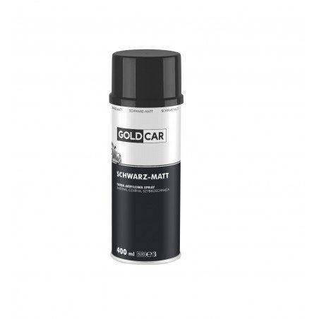 Lakier czarny mat spray Goldcar 500ml