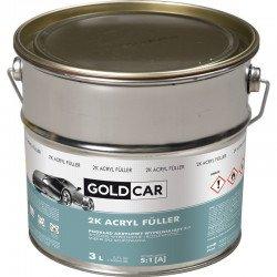 Podkład akrylowy 2K 5:1 biały Goldcar 3l kpl