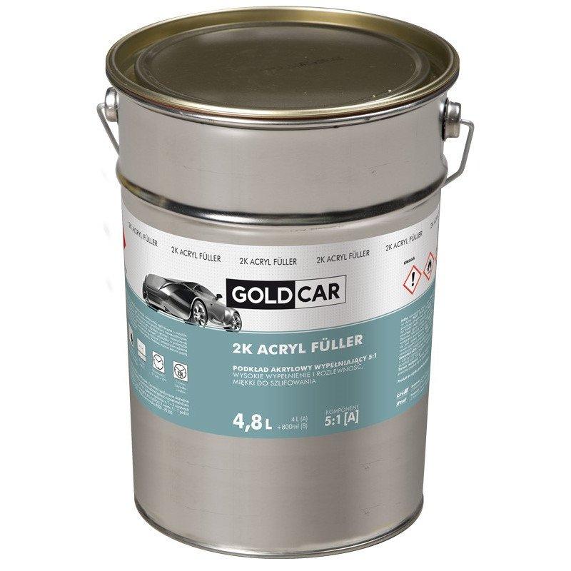 Podkład akrylowy 2K 5:1 szary Goldcar 4,8ml kpl z utwardzaczem